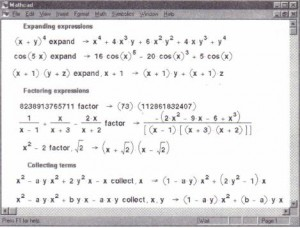 Figure 17-10: Expanding to a polynomial.factoring, and collecting terms.