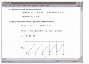Figure 7-5: Mathcad allows recursive function definitions.