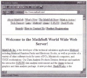 Figure 2-3: Browsing the World Wide Web from within the Resource Center.