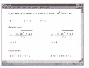 """Figure 7-11: The word"""" Calc"""" on the message line indicates that recalculation is required."""