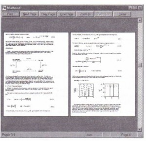 Figure 4-2: Previewing the printed output.