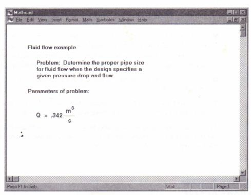Inserting text » MathCadHelp.com » Number 1 in MathCad Assignments