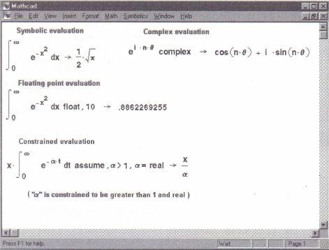 Symbolic Algebra Mathcadhelp Number 1 In Mathcad Assignments
