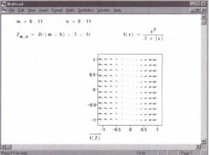 A sample vector plot from a complex matrix.