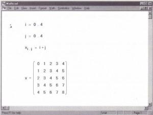 Defining a matrix