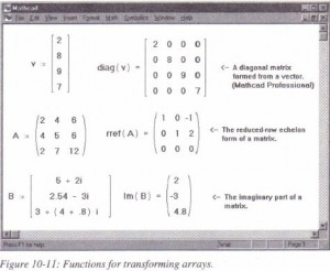 Functions for transforming arrays.