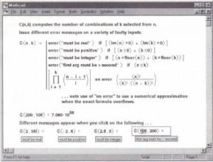 Issuing custom error tips via the error string function.