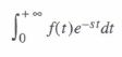 Laplace and inverse Laplace transformations