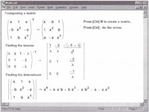 Symbolic matrix operations