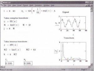 Use offast Fourier transforms in Mathcad