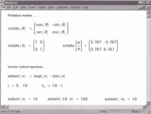 User functions used with vectors and matrices.