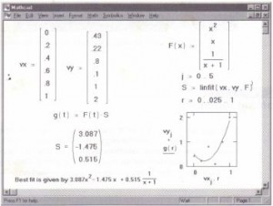 Using linfit to find coefficients for a linear combination of