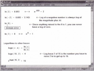 Using logarithmic functions