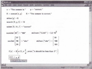 Using string functions to manipulate strings, convert to and from strings, and define error messages.