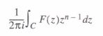 z and inverse z-transformations